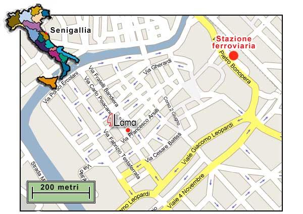 Cartina Senigallia