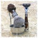 Set da barba in legno - Laguiole