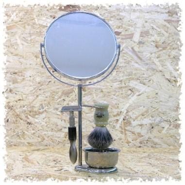 Set da barba con specchio classico