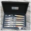 Set coltelli bistecca legno satianto - Laguiole en Aubrac
