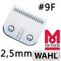 Testina da 2,5 mm 9F - Wahl Moser Ermilia