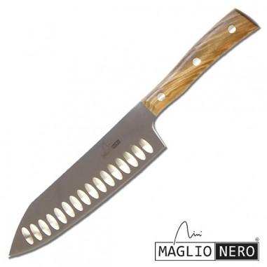 Rock Santoku 17 cm Iside Ulivo - Maglio Nero